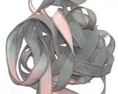 Sassy Silks Hand Painted Silk Ribbons Pine Forest