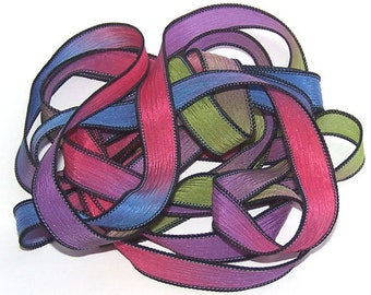 Sassy Silks Hand Painted Silk Ribbon Tooty Frooty