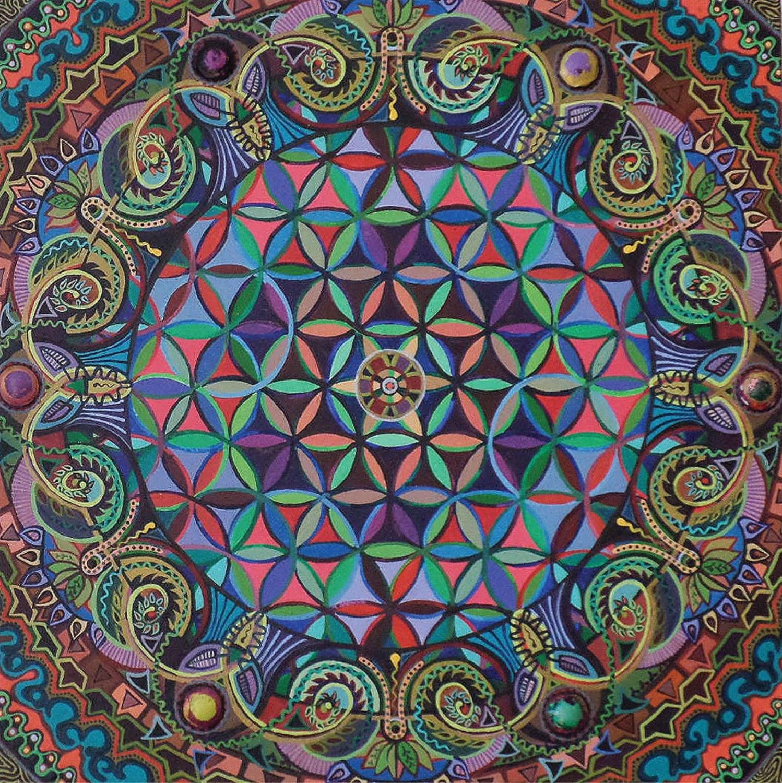 Flower Of Life Mandala Print On Gator Board By Mandalaland