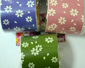 Japanese Kimono Fabric Tape- Flowers