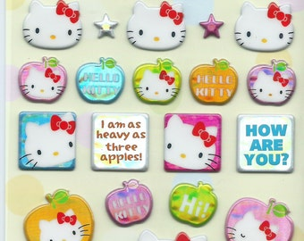 Japanese / Korean Stickers- Hello Kitty with Apples