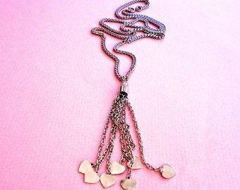 Vintage Long Silver Tassel Necklace