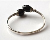 Baltic Amber Cuff Bracelet, 925 Sterling Silver, Amber Gemstone Cuff Bracelet, Adjustable Size