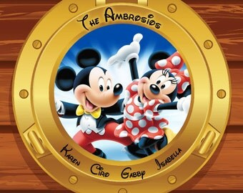 Custom Personalized Mickey and Minnie Disney Cruise Line Stateroom Door Magnet