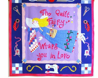 Quilt Fairy Wall Quilt Pattern (downloadable in 2 parts)