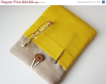 15 % ON SALE 11 inch Mac Air - Surface Sleeve - Padded Cover - 11 Inch Macbook Pro - Air Cover 10 inch Tablet Custom Size - Unique Handmade