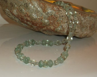 Green Amethyst with Green Fluorite Necklace