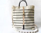 Shopper YUNA / Stripe/Black