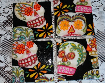 Coasters - Tile - Sugar Skulls