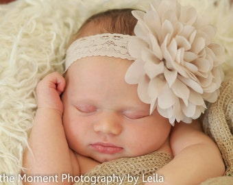 Baby Headband, Headband,  Infant Headband, Newborn Headband, Tan Headband, Beige Headband, Tan Baby Headband, Beige Baby Headband