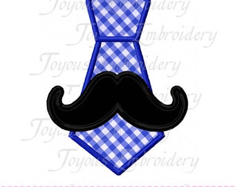 Instant Download  Moustache Tie Applique Embroidery Design NO:1623
