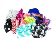 Dolly Bow Wired Headband Set of 2 Twist Hairbands Do Rag Bandana Hair Accessories // Choose your Color