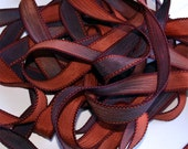 """Gold Rush 42"""" hand dyed silk wrist wrap bracelet  ribbon//Yoga wrist wrap bracelet ribbons//Silk wrist wrap ribbon// By Color Kissed Silk"""