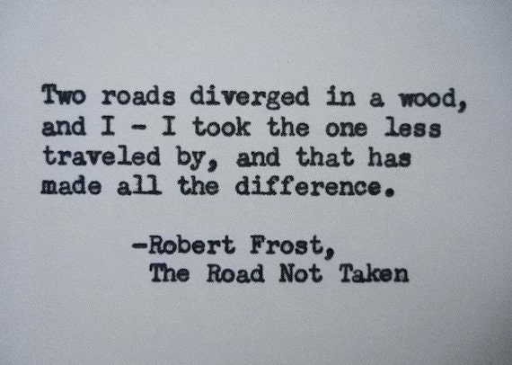 an review of the poem the road not taken by robert frost Robert frost: poems summary and analysis of the road not taken (1916) buy study guide the narrator comes upon a fork in the road while walking through a yellow wood.