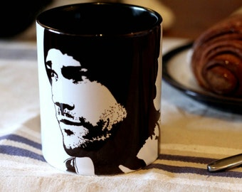 Jared Padalecki, Supernatural, Friday the 13th, House of Wax, Sam Winchester, Hand Painted Cup, Hand Printed cup