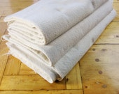 Three Stacks of Four Heavy Cotton Muslin Flower Sacks - Old-Fashioned Cotton Muslin - Lots of History - Great For All Sewing Projects