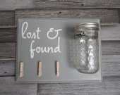 LARGE Laundry Room Decor....In Gray...Loose Change....Customizable...HAVENSPLACE...lost and found...