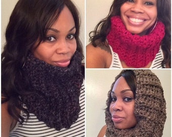 MADE TO ORDER Super chunky wool blend long cowl