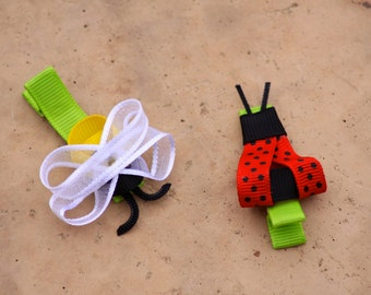 Lady Bug or Bumble Bee Hair Clip
