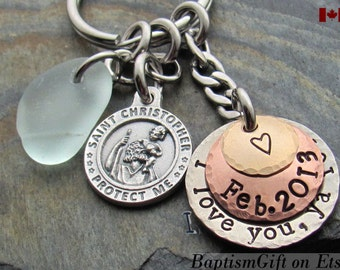 St Christopher. Custom. Deploy. Personalized. US Navy. Air Force. Marines. US Army. USAF. Deployment Jewelry Gift. Army Wife. Personalized.