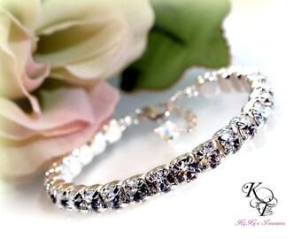 Tennis Bracelet, April Birthstone Bracelet, Swarovski Crystal Bracelet, Anniversary Gift, Bridal Shower Gift, Bridal Bracelet, Bling