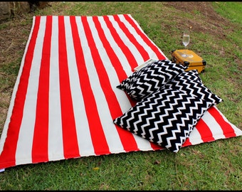 Waterproof Picnic Blanket Rug // with EXTRA PADDING  // you pick fabric and colour // Water Resistant on Front and Back