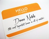 Donna Noble Doctor Who Name Tag Sticker