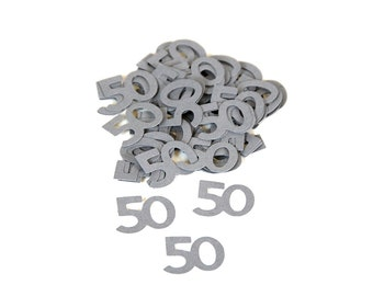 50 Confetti ~ Multiple Colors ~ Multiple Years ~ 50th Party Table Confetti ~ Decor ~ 50 Pieces