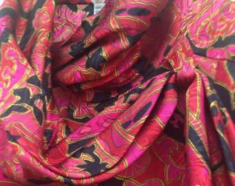 80s Vintage rayon blouse size 8