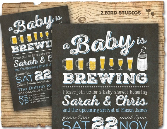 bbq & beer baby shower invitation beer diaper party, Party invitations