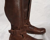 DISCOUNT! Mens High Leather Boots in Renaissance Style