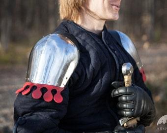 DISCOUNTED PRICE! Mid Century European Armor Pauldrons; Medieval armor