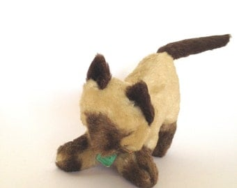 Stuffed Cat Kitten Toy Animal Kid's Toy Made by Jungle Toys England Playful Kitty Soft Kitty Plush Collectable Vintage