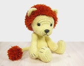 5-way jointed lion - Crocheted soft toy lion - Amigurumi animal