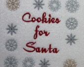 Cookies for Santa Machine Embroidery Design Digitized Christmas