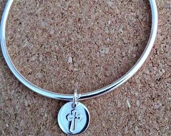 Christening Bangle, Baby  bangle, First Communion Gift, Communion gift, Personalize bangle, Children jewelry