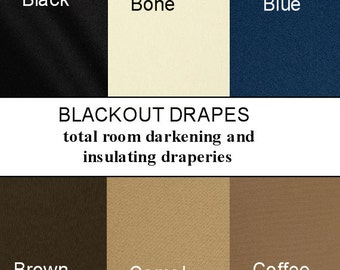 Blackout Curtains>SALE Custom Made Blackout Drapes From 2 story extra long drapes  to small window curtains