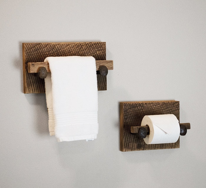 Barn wood toilet paper holder rustic toilet by tumbleweedcabin Wood toilet paper holders