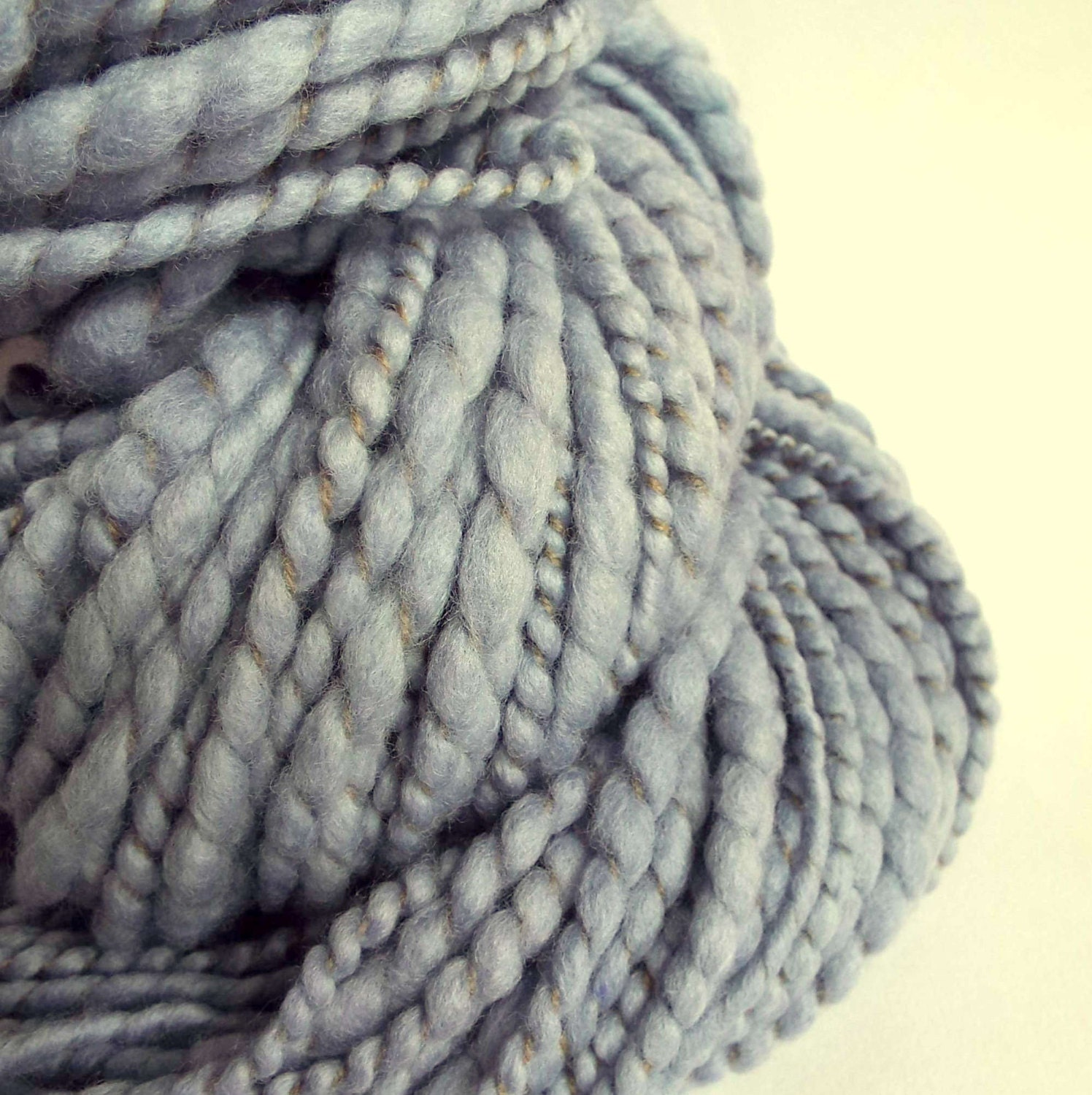 Blue knitting wool bulky knitting yarn handspun by thefibretree