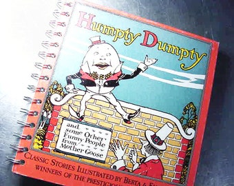 Journal HUMPTY DUMPTY Mother Goose Vintage BOOK Recycled Baby Journal