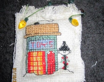 House Christmas Tree Pillow Christmas Tree Ornament