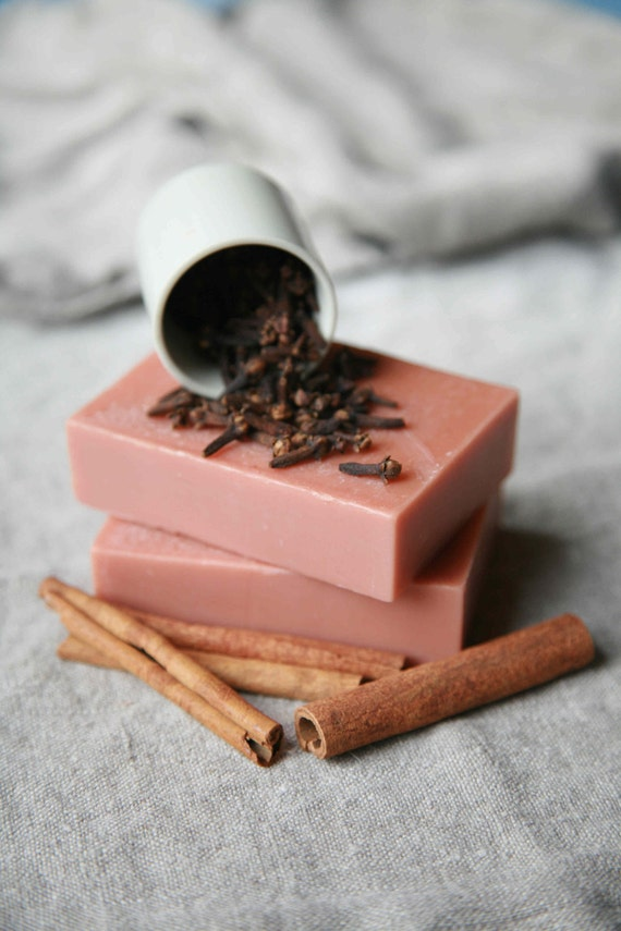 Spice Box, a cinnamon, clove and orange spice goat milk soap