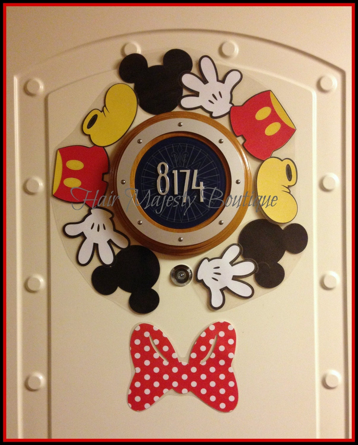 Mickey Mouse Body Part Wreath Magnet For Cruise Door From