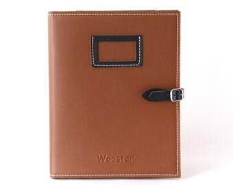 2 in 1 Handmade Leather iPad Case and Stand - Brown & Black