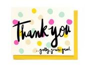 Golly Thanks Card - Singles & Box Set