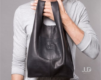 Black Leather bag large leather purse SALE Hobo leather bag
