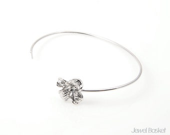 Flower Bangle Findings / 57mm x 45mm / BS150-B (1Piece)