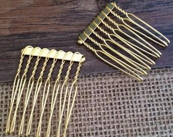 8Teeth Metal  Hair Combs  40pieces