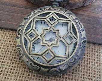 1pcs 45mmx45mm Bronze pocket watch charms pendant