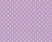 Riley Blake Small Polka Dot Fabric/Lavender and White/Cotton Sewing Material/Quilting, Clothing, Apron, Craft/Fat Quarter, Half Yard, 1 Yard